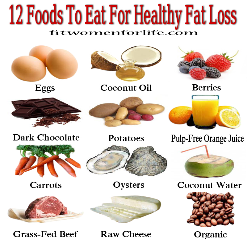 fwfl_12 Foods To Eat For Healthy Fat Loss
