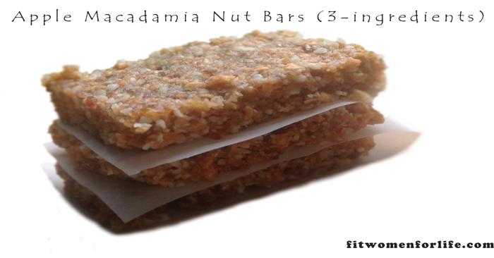 Apple Macadamia Nut Bars (3-ingredients)_700x366