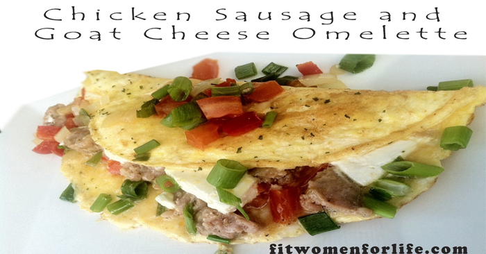 Chicken Sausage and Goat Cheese Omelette_700x366