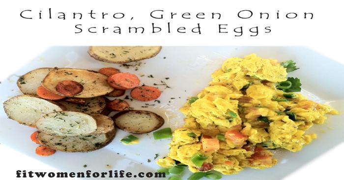 Cilantro, Green Onion Scrambled Eggs_700x366