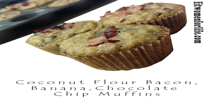 Coconut Flour Bacon, Banana, Chocolate Chip Muffins_700x366