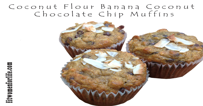 Coconut Flour Banana Coconut Chocolate Chip Muffins_700x366