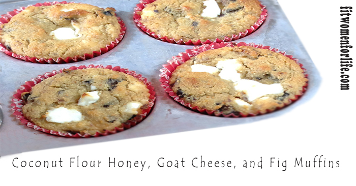 Coconut Flour Honey, Goat Cheese, and Fig Muffins_700x366