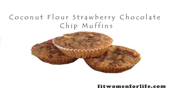 Coconut Flour Strawberry Chocolate Chip Muffins_700x366