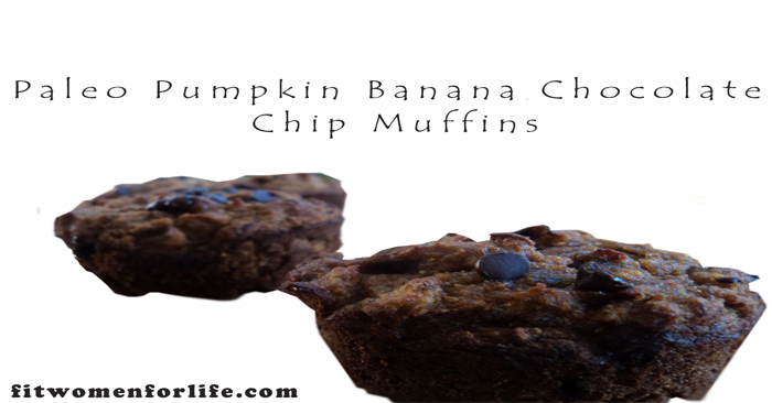 Paleo Pumpkin Banana Chocolate Chip Muffins_700x366