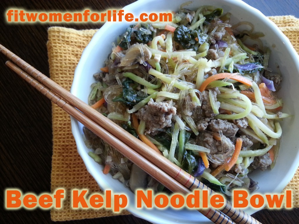 beef kelp noodle bowl
