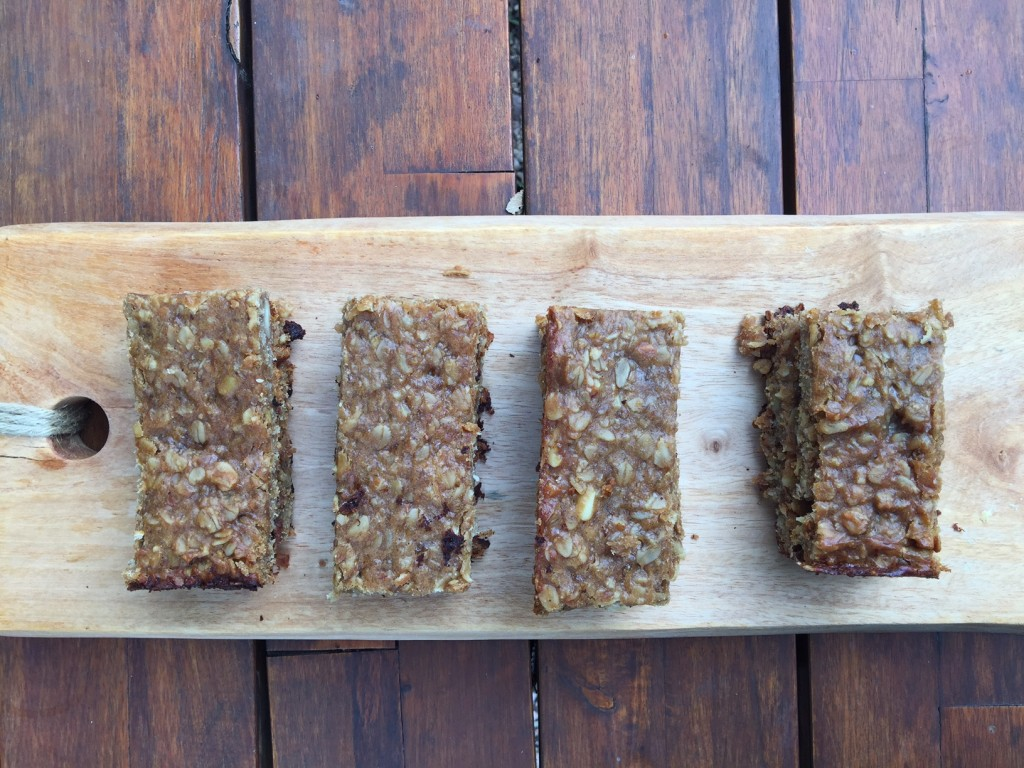 6 ingredient peanut butter banana protein bars2