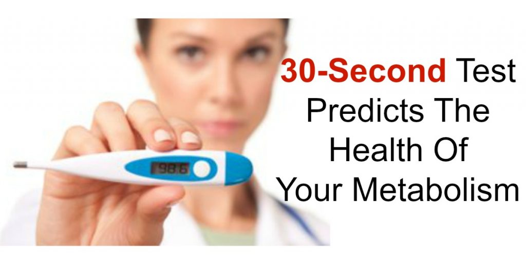 30-Second Test Predicts The Health Of Your Metabolism