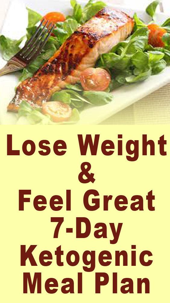Lose Weight & Feel Great 7-Day Ketogenic Meal Plan ...